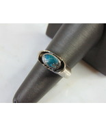 Womens Vintage Estate Sterling Silver Turquoise Ring 8.5g E5173 - $49.50