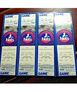 1988 Philadelphia 76ers vs New Jersey Nets 4 Ticket Stubs March 22 1988 - $17.81