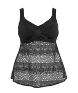 Elomi Indie ES7535 Non-wired Twist Front Tankini Top Black (BLK) CS - $102.18