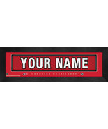 "Personalized Carolina Hurricanes Stitched Team Jersey 8"" x 24"" Framed Print - $39.95"