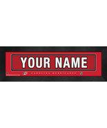 "Personalized Carolina Hurricanes Stitched Team Jersey 8"" x 24"" Framed Print - $38.50"