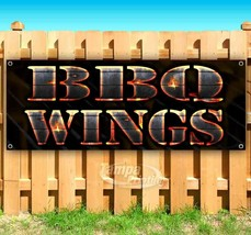 BBQ WINGS Advertising Vinyl Banner Flag Sign Many Sizes USA - $11.39+
