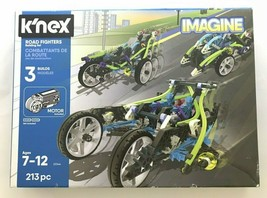 K'NEX Imagine Road Fighters Building Set 213 Pieces NEW Ages 7+ Engineering - $24.70