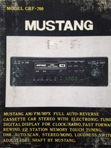Mustang Model CRF-700 Cassette Car Stereo - $396.00