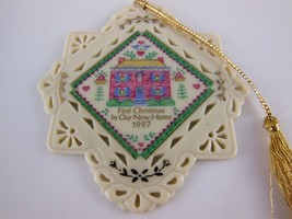 "Lenox First Christmas in Our  New Home  1997 Fine Porcelain Ornament  3"" x  3.5"" - $12.86"