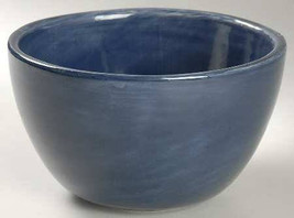 "Pottery Barn Hand Painted 6"" Dark Blue Swirl Like Design Coup Cereal Bow... - $10.99"
