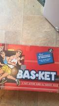 Vintage 1960 Bas-Ket Board Game Basketball Cadaco #165 - $30.00