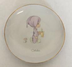 1983 precious moments October small decorative plate collectible  - $14.15