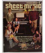 Sheet Music Magazine October 1979 Standard Edition - $3.99