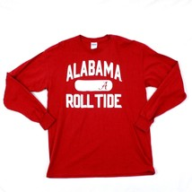 Alabama Roll Tide Long Sleeve T-shirt Adult Size L Large Red Tee Relaxed... - $26.38