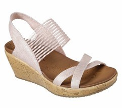 Skechers Sling Back Stretch Wedges - Beverlee High Tea Pink 9 M - $39.59