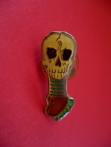 Skull Skeleton with Red Eyes Lapel Pin Hat Pin Collector Souvenir Vintage - $4.99