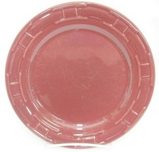 "Longaberger Pottery Woven Traditions Paprika Burgundy Luncheon Plate 9"" Marks - $10.88"