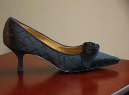 "Liz Claiborne Shoe 7.5 M Black Pumps W/ROSE Leather Sole Lightly Worn 2.5"" Heel - $34.99"