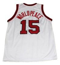 Worldpeace #15 Artest St John's New Men Basketball Jersey White Any Size image 5