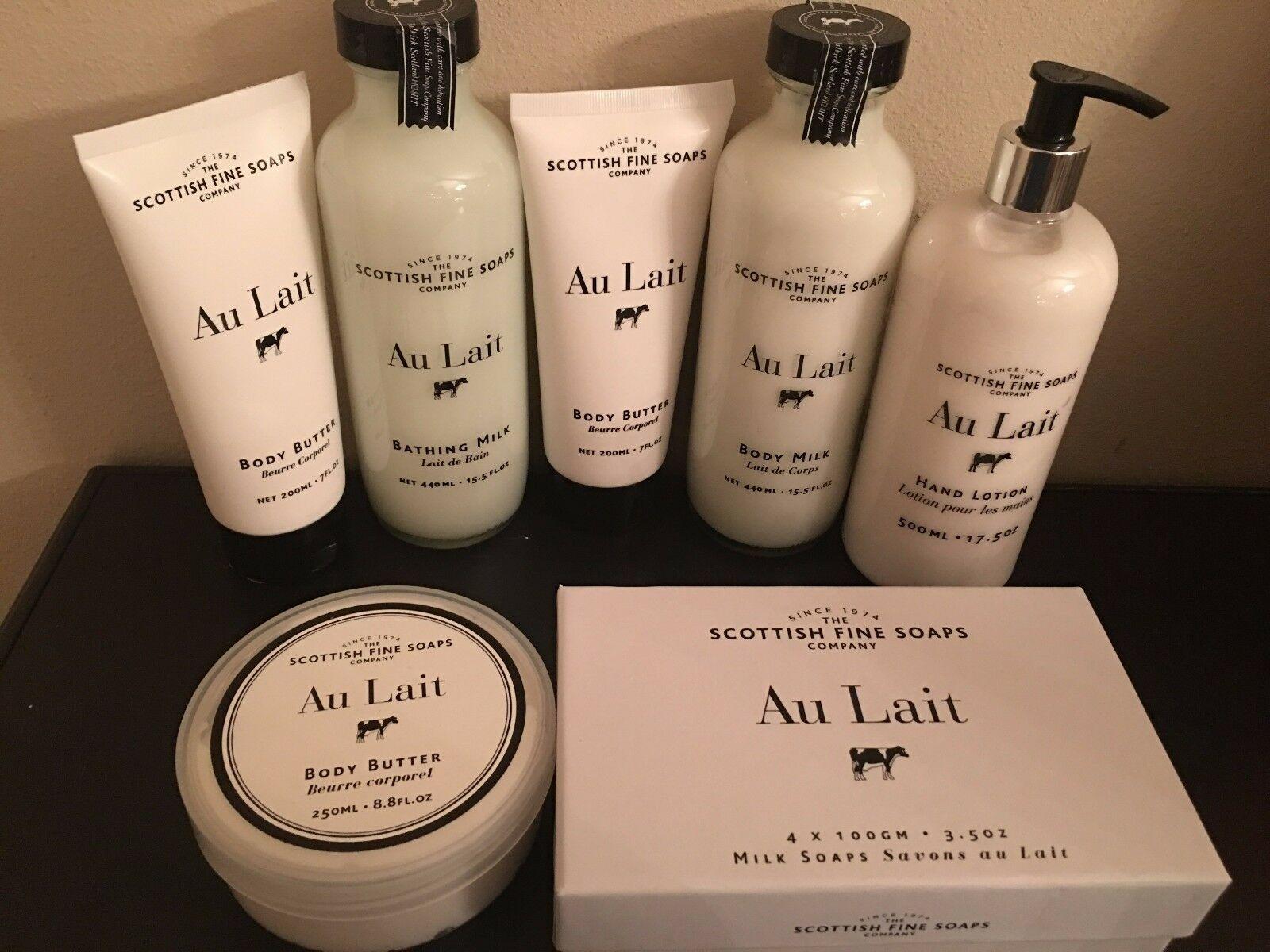 Scottish Fine Soaps Au Lait body lotion/butter/Bathing Milk/hand lotion, new image 2
