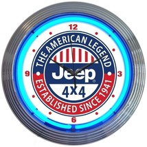 "Jeep The American Legend Neon Clock 15""x15"" - $72.00"