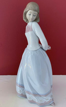 """NEW IN BOX LLADRO # 6754 """"SWEET AND SHY"""" GIRL W/FLOWER PORCELAIN FIGURIN... - $224.99"""