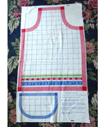 Vintage Cut And Sew Apron Ameritex Red White Blue 1980s Country Pantry D... - $12.00