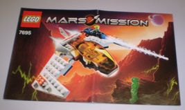 Used Lego Mars Mission Instruction Book Only # 7695 MX-11 Astro Fighter ... - $2.95