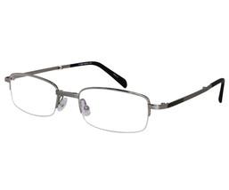 EBE Bifocal Reading Glasses Mens Womens Rectangular Silver Half Rim Folding - $42.99