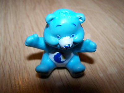 "Primary image for Mini Bedtime Care Bear PVC Figure Toy Cake Topper Blue 1.5"" EUC"