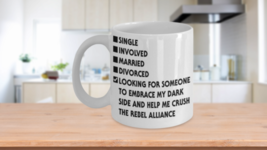 Embrace My Dark Side Singles Dating Checklist Coffee Mug Star Wars - $14.99