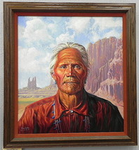 Original Irving Toddy Navajo Chief Painting Native American Award Winnin... - $24,818.75