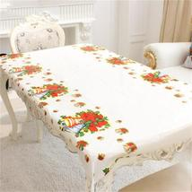 Year Home Kitchen Dining Table Decorations Christmas Tablecloth Rectangular - $5.43