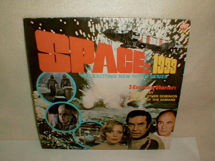 Space 1999 1975 record LP VG 3 exciting stories TV show