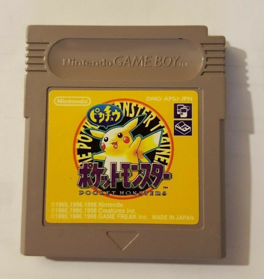 Game Boy GB  Pocket Monsters Yellow ( Pokemon Pikachu) Japan import game