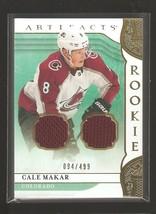 Cale Makar 19-20 UD Artifacts Rookie Dual Jersey #'d/499 MINT LQQK - $24.95