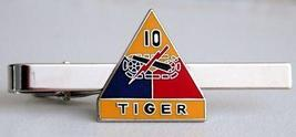 US Army 10th Armored Division Tiger Tie Clip  - $12.99