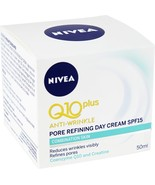 Nivea Q10 Plus Anti-Wrinkle Pore Refining Day Cream 50ml /1.7oz Made In ... - $22.46
