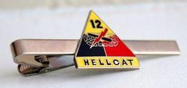 US Army 12th Armored Division Hellcat Tie Clip  - $12.99