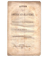Letter on American Slavery to Edinburgh Witness by S. E. Morse (Pre-Civi... - $100.00