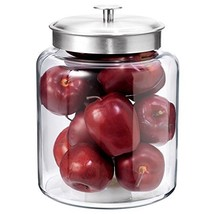 Anchor Hocking Montana Glass Jar with Fresh Sealed Lid, Brushed Metal, 2... - $25.23
