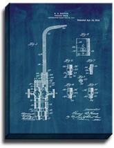 Welding-torch Patent Print Midnight Blue on Canvas - $39.95+