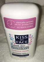 LOT OF 3 Kiss My Face Smooth Deo Moisturizing Deodorant Powder Fresh .NEW - $32.64