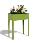 """24.5"""" x 12.5"""" Outdoor Elevated Garden Plant Flower Bed - Color: Green - £73.62 GBP"""
