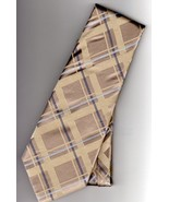 Donald J Trump Signature Collection Gold Silk Plaid Mens Tie - $22.50