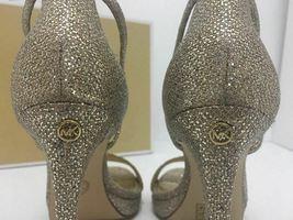 Michael Kors Simone Women Evening Platform High Heels Sandals 6.5 Silver Glitter image 5
