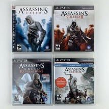 Assassins Creed 1 2 3 Revelations Ubisoft Sony PlayStation 3 PS3 Lot Of 4 - $23.33