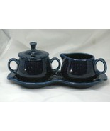 Homer Laughlin 2017 Fiesta Cobalt Creamer And Sugar With Tray - $20.15