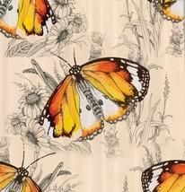 Butterflies Shower Curtain Flower Plant Floral Garden Art Bathroom Decor... - $29.39