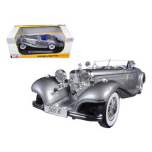 1936 Mercedes 500K Special Roadster Grey 1/18 Diecast Model Car by Maist... - $52.40