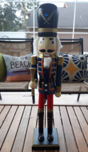 """24"""" Inch Tall Wooden Nutcracker British Solider Painted Christmas Decora... - $26.72"""