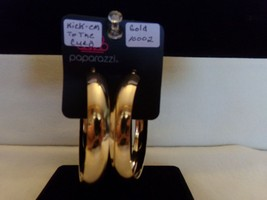 Paparazzi Earrings (new) Kick 'em To The Curb  /Gold Hoops  10002 - $8.61