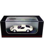 Lamborghini Miura P400 Pearl White with Silver Bottom 1/64 Diecast Model... - $34.45