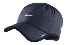 New Nike Feather Light Cap Hat Dri Fit Run Tennis 595510-451 Obsidian Bl... - $200.00